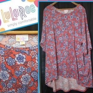 Lularoe Irma 3XL Floral Dolman Sleeve